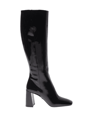 Squared Toe Patent Boots