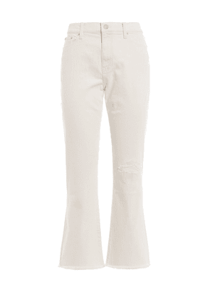 The Chrystie Kick Flare Crop Jeans