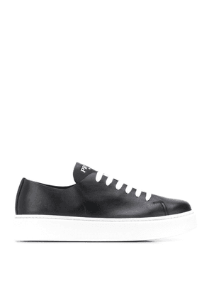 Street Eighty Black Leather Sneakers