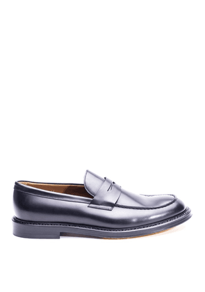Black Leather Classic Loafers