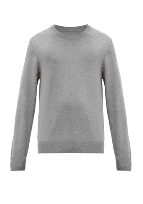 Elbow-Patch Crew-Neck Cotton-Blend Sweater