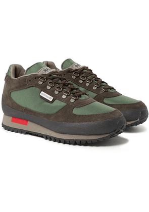 adidas Consortium - Winterhill Spezial Suede And Mesh Sneakers - Army green
