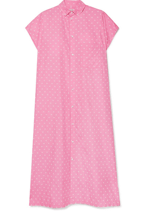 Balenciaga - Printed Cotton-poplin Shirt Dress - Baby pink