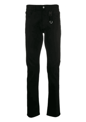 Black Men's Black Classic Jeans With Buckle