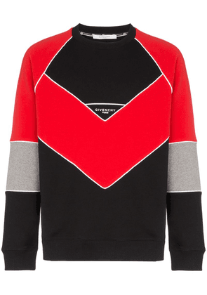 Givenchy logo embroidered geometric cotton sweatshirt - Black