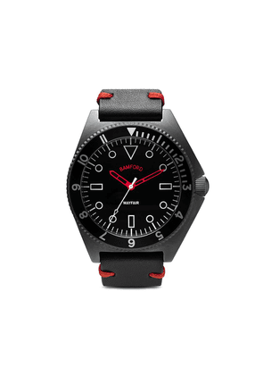 Bamford Watch Department red accent Mayfair watch - Steel