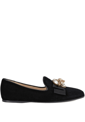 Gucci Velvet ballet flat with bee - Black