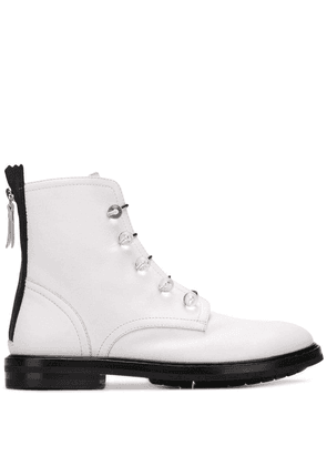 AGL lace-up ankle boots - White
