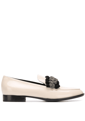 AGL braided detail loafers - NEUTRALS