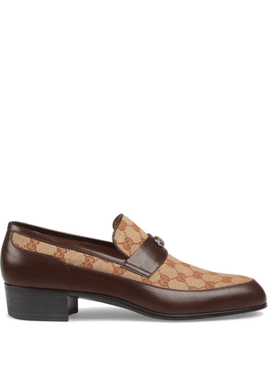Gucci Original GG loafers with Gucci Team motif - Brown