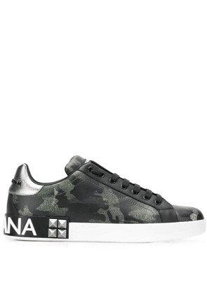 Dolce & Gabbana printed low-top trainers - Green