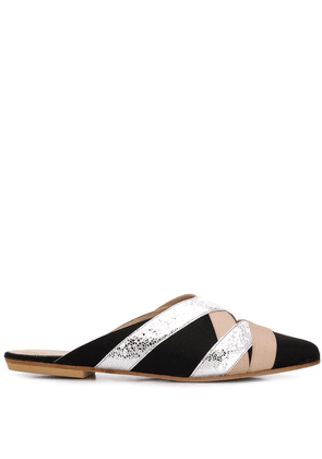 Gia Couture colour-block mules - Black