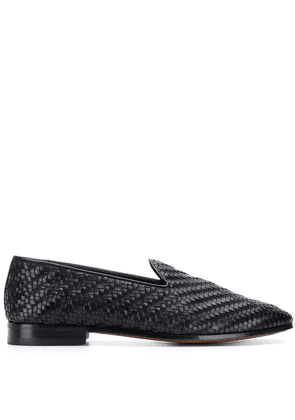 Barbanera woven classic loafers - Black
