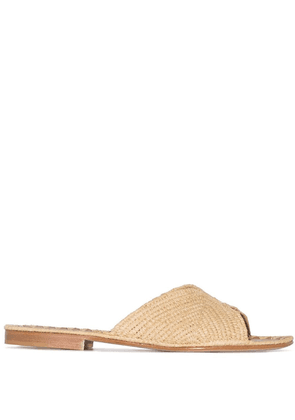 Carrie Forbes Salon raffia sandals - NEUTRALS