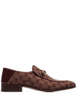 Gucci Mister horse-bit logo loafers - Red