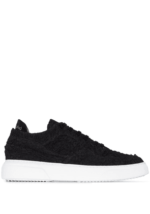 By Walid embroidered low-top sneakers - Black