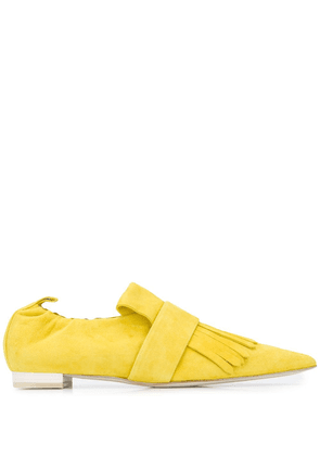 Cyclas fringed pointy loafers - Yellow