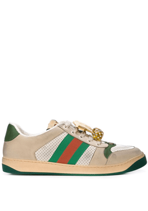 Gucci Screener sneakers with embellishment - Neutrals