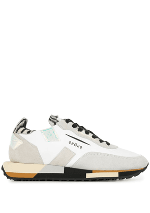 Ghoud panelled lace-up sneakers - White