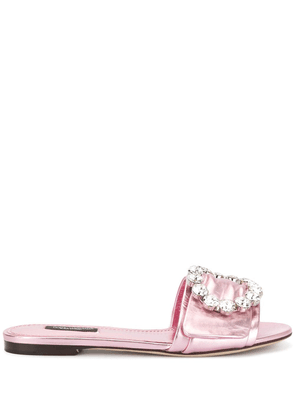 Dolce & Gabbana flat slides - Purple
