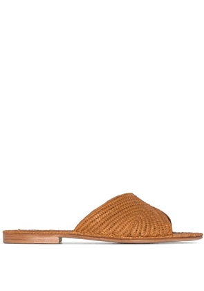 Carrie Forbes Salon raffia flat sandals - Brown