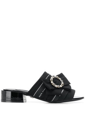 Dolce & Gabbana open toe bow sandals - Black