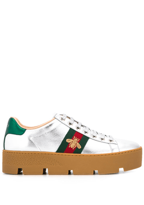 Gucci Ace embroidered platform sneaker - Grey