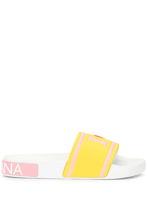 Dolce & Gabbana slides with high-frequency detailing - Yellow