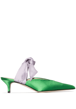 Gia Couture Bandana Girl 55mm mules - Green