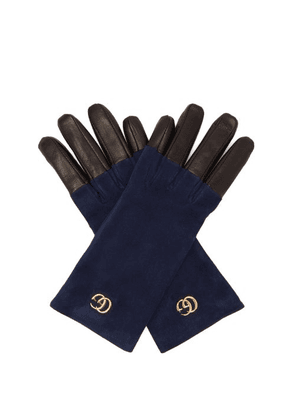 Gucci - Gg Suede Gloves - Womens - Blue