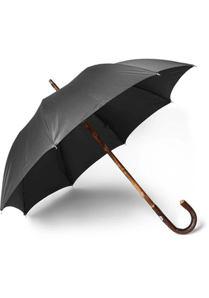 Francesco Maglia - Chestnut Wood-handle Umbrella - Black
