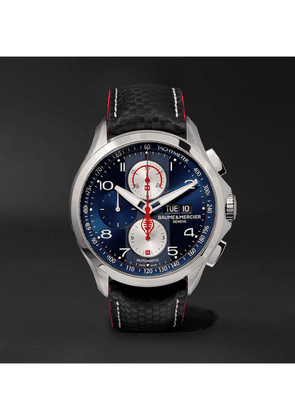 Baume & Mercier - Clifton Club Shelby Cobra Chronograph 44mm Stainless Steel And Leather Watch, Ref. No. 10343 - Blue