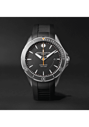 Baume & Mercier - Clifton Club Automatic 42mm Stainless Steel And Vulcanised Rubber Watch - Black
