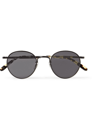 Garrett Leight California Optical - Wilson M 49 Round-frame Metal And Tortoiseshell Acetate Sunglasses - Black