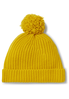 Connolly - + Goodwood Ribbed Cashmere Beanie - Mustard