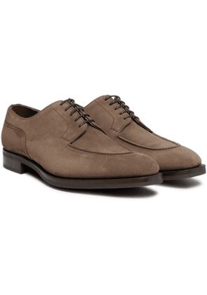 Edward Green - Dover Suede Derby Shoes - Brown