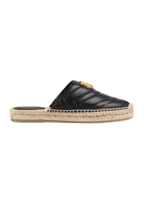 Leather espadrille with Double G
