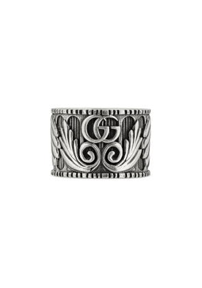 Ring with Double G and leaf motif