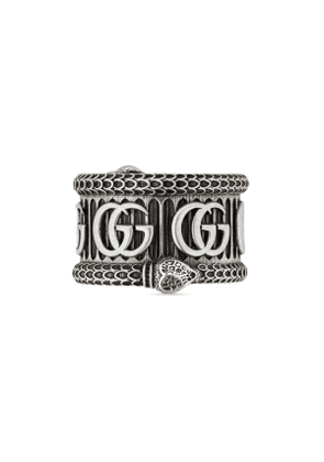 Silver ring with Double G