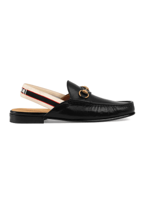 Horsebit Gucci stripe slingback slipper