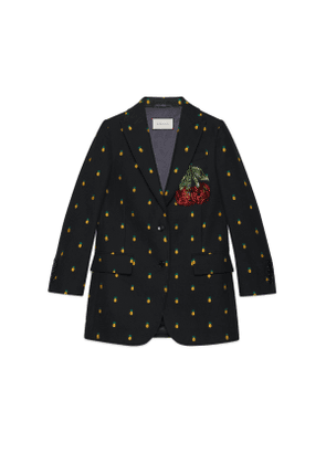 Pineapple fil coupé wool jacket