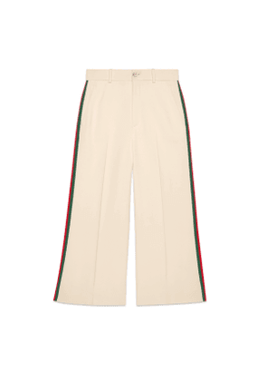 Viscose culotte trousers with Web