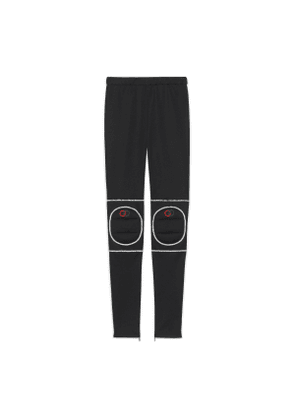 Technical jersey leggings with kneepads