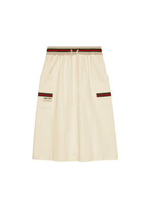 Cotton skirt with Gucci label