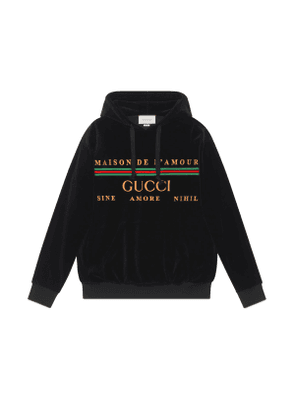 Oversize sweatshirt with Gucci embroidery