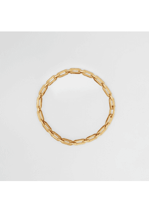 Burberry Resin and Gold-plated Chain-link Necklace, Yellow