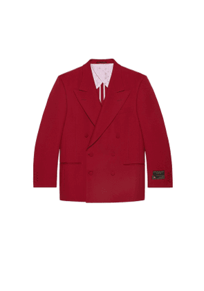 Drill jacket with sartorial labels