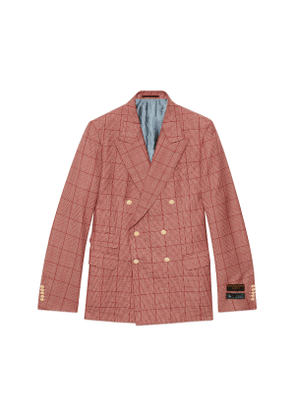 New Signoria check wool jacket with labels