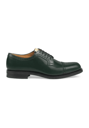 Brogue leather lace-up shoe