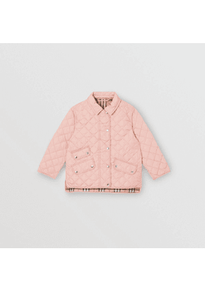 Burberry Childrens Lightweight Diamond Quilted Jacket, Pink